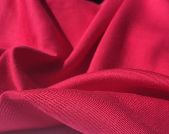 "60"" Solid Fuchsia Hot Pink 100% Tencel Gabardine Twill Medium Weight Woven Fabric By the Yard"