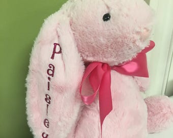 """16"""" personalized plush Easter Bunny"""