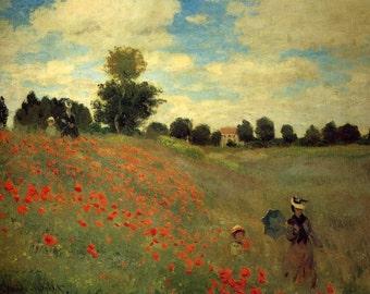 Poppy Field Monet, Monet Poppy Field, Argenteuil Monet, Monet Argenteuil, Monet Poppy Field Argenteuil, Poppy Field Argenteuil, Monet Field