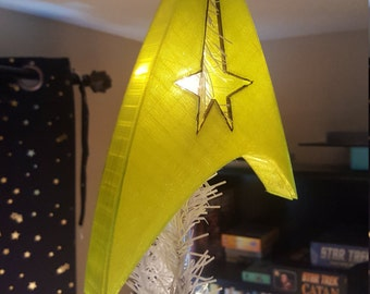 Star Trek Starfleet Command Chevron Christmas Tree Star Topper