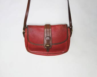 80s Dooney and Burke Red Crossbody Purse // Red Leather Dooney and Burke Purse