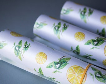 Lemon and Mint Wrapping Paper