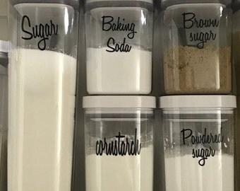 8 Pantry labels / kitchen labels / canister labels / jar labels