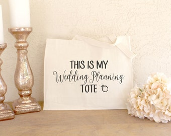 Wedding Planning Tote - Weding Planning Bag - Engagement Gifts - Engaged Gifts - Engagement Gifts for Her - Bride to Be Tote Bag - Tote Bag