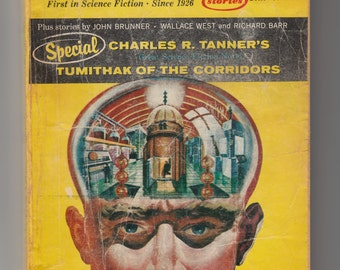 Amazing Stories Science Fiction Magazine 1967 Pulp-Ron Goulart-Charles R Tanner-Wallace West and Richard Barr-Edwin James-Novel-John Brunner