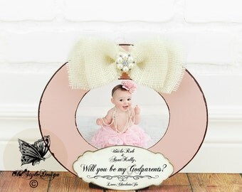 will you be my godparents gift personalized picture frame baptism gift godmother frame baptism frame godmother gift christening godchild
