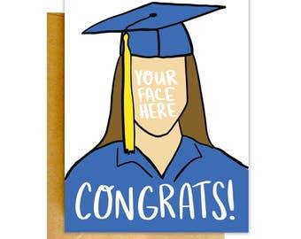 Funny Graduation Card, Graduation Card, Funny Congrats Card, Grad Card, College Graduation Card, Funny Card, High School Graduation Card