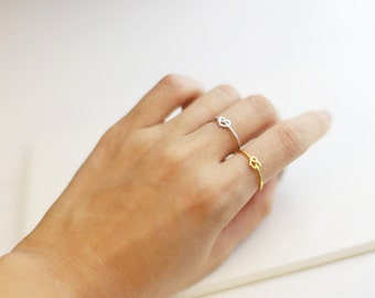 Knot ring // Vermeil & Silver Ring // Cute and Dainty Gift for Her // Christmas gift for her under 20.00