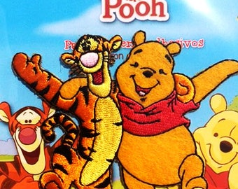 Winnie The Pooh And Tigger Iron On Patch Winnie The Pooh Applique Tigger Applique