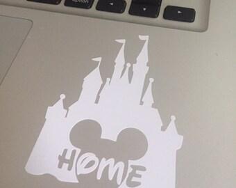 Cinderella Castle, Mickey, Home, Disney Vinyl Decal
