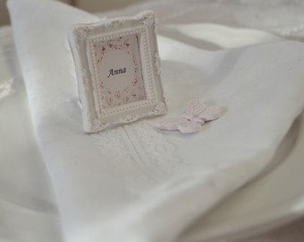 Table decorations wedding / gift vintage wedding frame