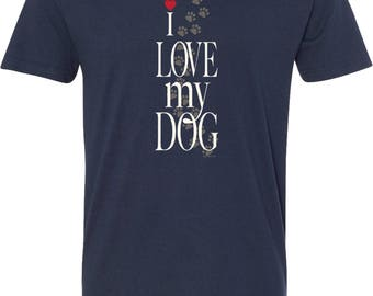 Men's I Love My Dog V-Neck Shirt 21255E2-N3200