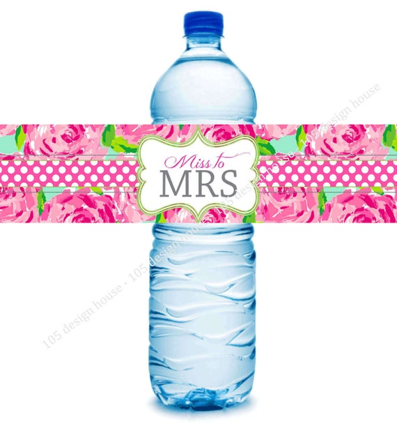 Lilly Pulitzer Bridal Shower Water Bottle Label Printable