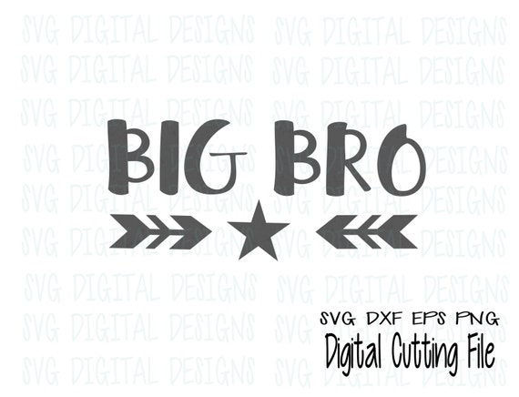 Download Big Brother SVG Big Bro Cutting files for Silhouette Cricut