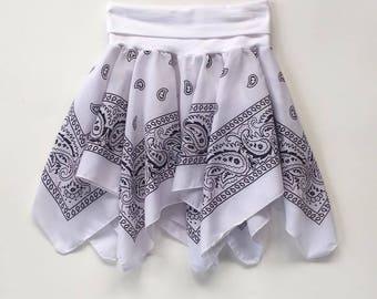 White Bandana Skirt