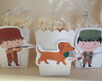 Hunting Party Popcorn or Favor Boxes - Set of 10
