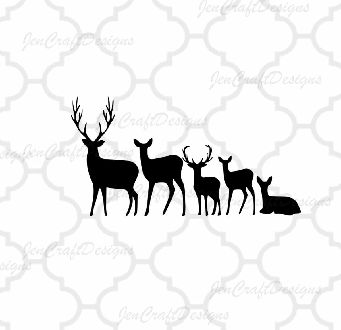 Download Deer Family SVG Cut Files Svg Png Dxf and Eps Cricut Design