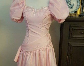 Bridesmaid dress/Vintage bridesmaid dress/Pink bridesmaid dress/Eve of Milady Bridesmaid Dress//1980's bridesmaid dress