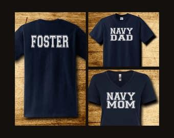 Jersey Style Navy Family Shirts