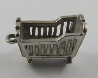 Rocking Cradle Sterling Silver Vintage Charm For Bracelet