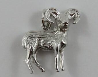 Ram Sterling Silver Vintage Charm For Bracelet