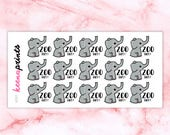 A591 | ZOO DAY Stickers - Daily Planner Stickers, Diary Stickers, Journal Stickers, Scrapbook stickers