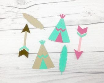 Boho Die Cuts, Aztec Die Cuts, Pow Wow Die Cuts, Teepee Die Cuts, Feather Die Cuts, Arrow Die Cuts