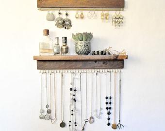 organisateur de bijoux avec plateau pr sentoir par theknottedwood. Black Bedroom Furniture Sets. Home Design Ideas