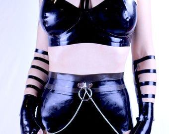 Latex Highwaisted Belted Panties