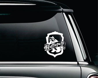 Harry Potter Car Decal | Harry Potter Car Accessories | Hufflepuff car decal