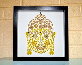 Buddha wall art, Buddha picture, Buddha wall decor, Spiritual gift, yoga lover gift, quirky Buddha art