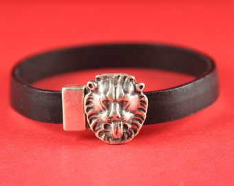 5/1 MADE in EUROPE zamak lion  magnetic clasp, 10mm flat cord magnetic clasp, 10x2mm magnetic clasp, lion magnetic clasp (77871/10) Qty1