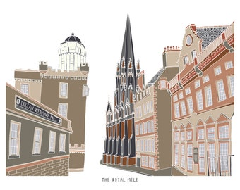 Edinburgh Old Town Print
