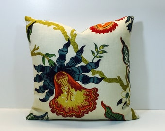 Schumacher - Hothouse Flowers - Cushion Covers, Throw Pillows -