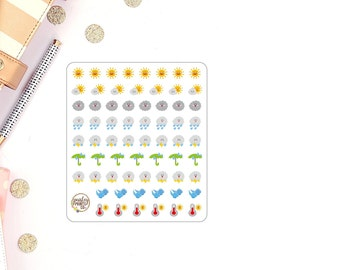 MINI warm weather planner stickers