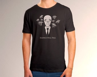 "Doctor Who Inspired ""Silence Will Fall"" Men's T-Shirt"