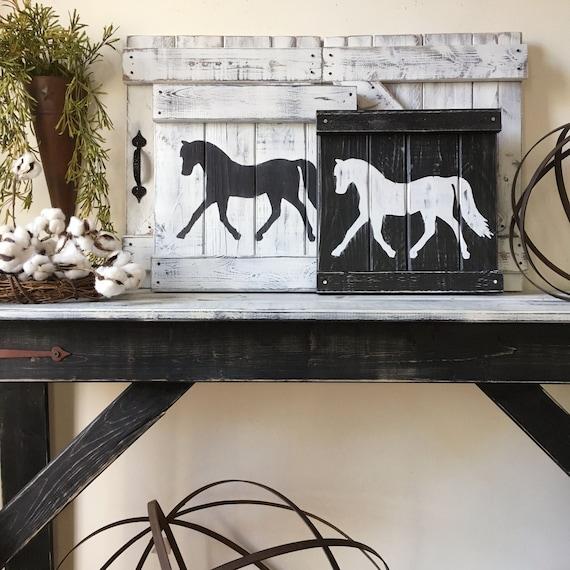 Wall Decor Modern Farmhouse: RUSTIC HORSE DECOR Equestrian Wall Decor Horse Decor Horse