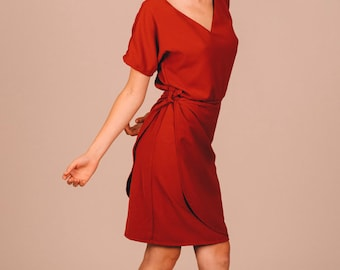 MARGUERITE DRESS RED