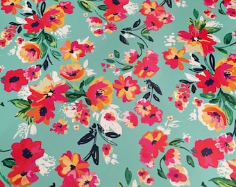 """Sold Out!! Flower Garden Patterned Heat Transfer Vinyl, Floral Heat Transfer Vinyl, Patterned HTV With Transfer Mask Included! 12x12"""" Sheet"""