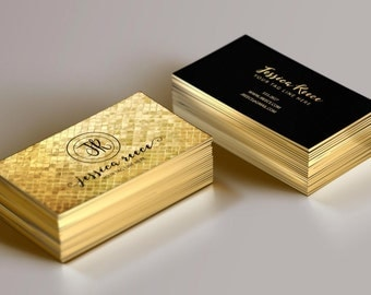 Foil business cards etsy gold foil business card event planner business card boutique business card wedding planner reheart Gallery