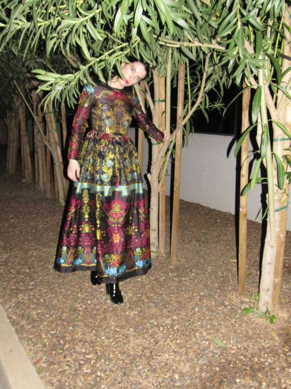 Vintage Sangria Social Dress