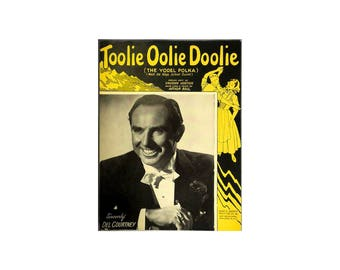 Sheet Music Toolie Oolie Doolie The Yodel Polka 1948 Piano Guitar Vocal