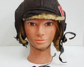 ORIGINAL US Made Vintage Flight Helmet
