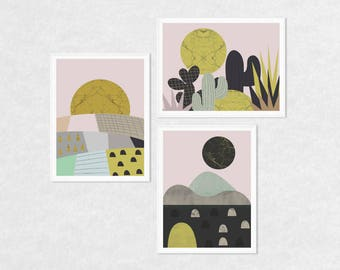 Set of 3 wall art, set of 3 prints, scandi print set, print set, Scandinavian wall art, abstract art, abstract prints, abstract wall art