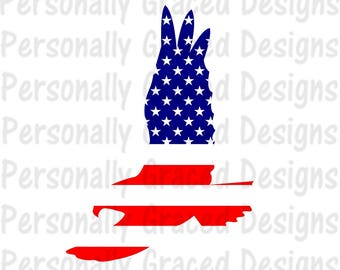 SVG, DXF, EPS Cut file Bald Eagle svg, United States Flag svg, July 4th Svg, Patriotic, silhouette cut file, cameo file, Cricut Cut File