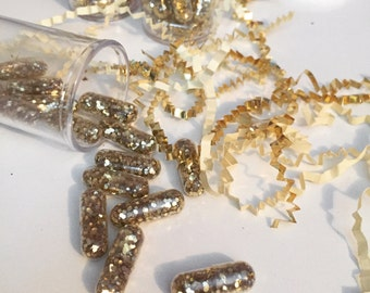 50 Glitter Pills,Glitter capsule,Sparkle Pills, Sparkle Capsule, Happy Pills, Chill Pills, Fairy pills, Rave Glitter, Funny Gift