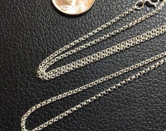 "16"" Sterling Silver 1.5mm Rolo Chain"