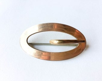 S&S gold detail buckle brooch | Buckle pin | Buckle jewelry |