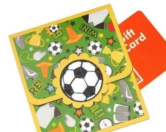 Soccer Gift Card Holder, Thank You Coach, Coach Gift, Sport Money Holder, Soccer Gift Card, Thank You Gift Card, Handmade Birthday Gift Card