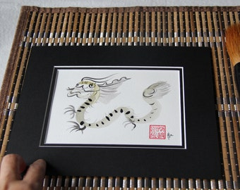 Birthday gift, Chinese Zodiac, Year of the Dragon, Dragon, Original Sumi Ink Painting, Chines zodiac, feng shui, birthday gift, baby shower